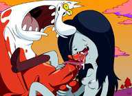 Image 564364: Adventure_Time Cow_and_Chicken Marceline ...
